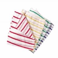 Stripy Dishcloths - Red