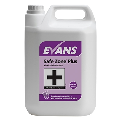 Evans Safe Zone Plus Virucidal Sporicidal Disinfectant 5 Litre