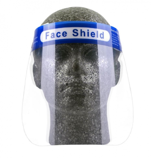 Reusable Face Shield with Sponge Brow Guard