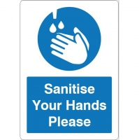 Sanitise Your Hands Please Sign A5 S/A